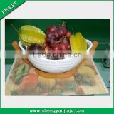 Christmas gift totally bamboo ceramic fruit basket