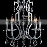 Contemporary Silver Chrome Crystal Chandelier Pendant Lamp 5 light Chandelier Crystal Light Fixture
