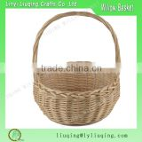 Factory wholesale round natural handled Wicker baguette basket /Cheap wicker bread baskets/Washable bread basket                                                                         Quality Choice
