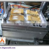 4 cavities, three plate, soap case/box plastic injection mould