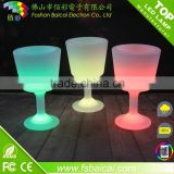 LED illuminated ice bucket coolers remote control RGB color changing large capacity plastic bar led ice bucket