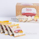 Best Sale Baked Wafer Cookies Biscuit Snack LIPO 10g Cream Egg Rusk Bread with HALAL, ISO, HACCP Certification