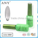 ANY Salon Nail System Nail Art Caring Soak Off Silver Glitter Organic Gel Nail Polish for Nail Art
