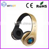 Noise cancelling microphone wireless headphone with led light