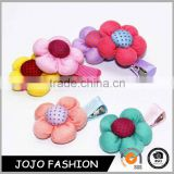 Colorful design fabric flowers baby hair clip hair band for headbands                                                                                                         Supplier's Choice