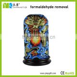 High quality Chinese folk art resin Dragon Pillar sculpture for home decor