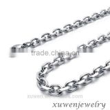 womens high polished small o shape flat 316l stainless steel link chain