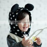 MZ3006 Baby lovely dot Winter Hat Pilot Fuzzy Warm ear Cap