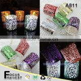 A811 Christmas crafts candle wraps laser paper LED light for wedding party decoration gift