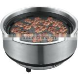 stainless steel electric Pan grill steam hot pot and BBQ Teppanyaki grill, GEO-01X