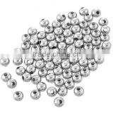 High Quality DIY Steel Companies Hooks Jewelry Findings Type Round Spacer Beads 316l Stainless Steel Silver Bead
