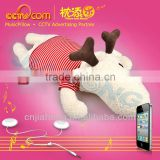 Stuff Animals Toys with Speaker! Washable Plush Music Pillow-Hornie Deer/Christmas Reindeer- CE SGS ROHS