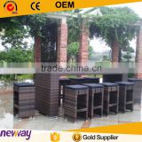 Modern design best seller garden bar furniture set rattan bar table and chair                                                                         Quality Choice