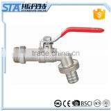 "ART.2001 Bathroom Wall Mounted Washing Machine Water Faucet Tap 1/2"" 1"" Forged Nickel Plated Single Cold Brass Ball Hose Bibcock"