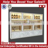 Elegant European pattern supermarket display stand liquor store shelving