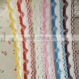 China Wholesale Cheap Top Quality 25MM Crocheted Cotton Lace Ribbon Fabric Trim For Home Garment Accessories Material in Stock
