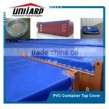 pvc coated canvas tarpaulin , pvc open top cargo container cover, pvc tarpaulin truck cover