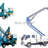 Chinese towable hydraulic trailer mounted boom lift / For man lift folding mounted crane