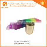 Hot!!! 6 Rainbow Color With Hose Sparkle And Shine Long Lasting Lip Gloss