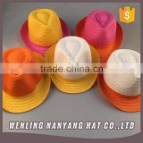 Ladies New Fashion Summer Fedora Hats Mixed Colors Woven Paper Braid Gross Floppy Straw Hats