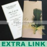 2014 Wholesale Luxurious Handmade Decoration Pop Up Unique Wedding Invitation Card Models Design