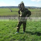 Camouflage Beekeeping protective garment Cotton Bee Clothes, high quality beekeeping suit with veil, bee protective suits