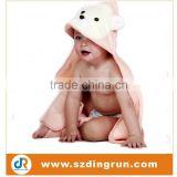 Cute Hooded Baby Towel 100% Pure Cotton , Ultra Soft Animal Face Bear Sleeping Wrap Perfect Gift for Sensitive Skin