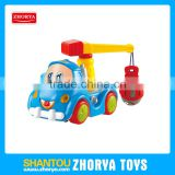 3 style B/O cartoon Engineering vehicle kids electric bump and go toys car with music and light for sale