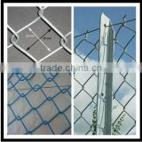 Fence Mesh Application PVC coated wire chain link fence / malla de alambre de diamante,valla