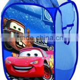 Cute Cartoon Cars Kids Pop Up Laundry Hamper Folding Laundry Bag Foldable Easy Open 2 Polyester