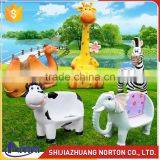 Colorful fiberglass animal seat sculpture for garden decor NTRS-067LI