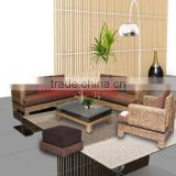 Water hyacinth furniture, living room sofa furniture set include cushion