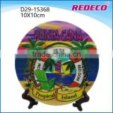 Custom resin country tourist souvenir plate for decoration