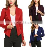 Ladies Slim Fit Blazer Designs Long Sleeve Slim Solid Casual Office Work Wear Lapel Neckline Latest Blazer Designs With Jeans