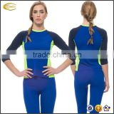 Surfing/board/Golfing/Running/Yoga water tank and leggings Undercover Water wear Ladies Navy Sapphire Rash guard Swim swim suit