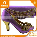 latest Italian matching shoes and bag set ladies shoes and bag to match for Nigerian wedding MG1016-4