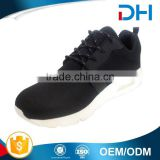 Black upper customized white outsole air cushion shoes men sport sneakers