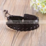 Handmade Adjustable Vintage Braided PU Wrap Leather Bracelet Men