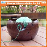 china factory direct wholesale yarn bowl hand knitting wooden yarn bowl wooden
