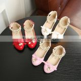 B22684A Korea fashion girls beaded Diamond bowknot Princess Shoes