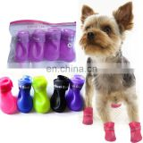 Cute Pet Dog Waterproof Boots Protective Rubber Rain Shoes Candy Colors Booties