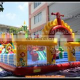 commercial giant pvc inflatable playground amusement park equipment , trampoline made in China manufactere