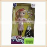 "9"" plastic toy big head girl doll"