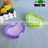 Hot Selling Ecofriendly Heart Shape Travel Cheap Soap Dish Holder Plastic