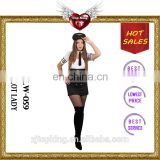 2016 Hot Sales Female Sexy Lingerie Uniform Carnival Sexy Pilot Lady Costumes for Woman