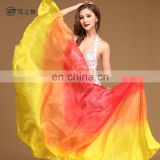 P-9106 100% real silk semi circular gradient color 2.5*1.14m belly dance silk veil