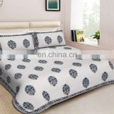 Luxury king size bedding set with pillow cover and jaipuri bedsheet