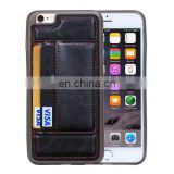 Crazy Horse Texture PU Leather Case with Card Slots & Holder for iPhone 6 Plus