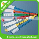 Disposable PVC wristband with plastic button