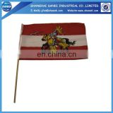 Chinese factory plastic waving hand flags